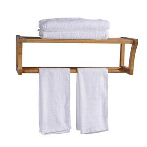 "25"" Bamboo Wall Mount Towel Rack Product Image"