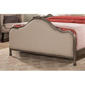 Delray Footboard - Queen - Aged Steel With Linen Stone