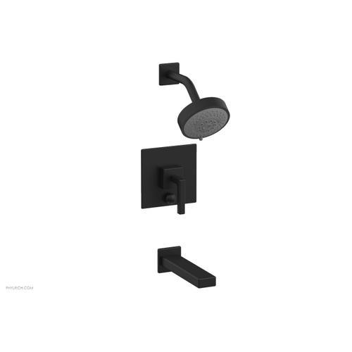 MIX Pressure Balance Tub and Shower Set - Lever Handle 290-27 - Matte Black