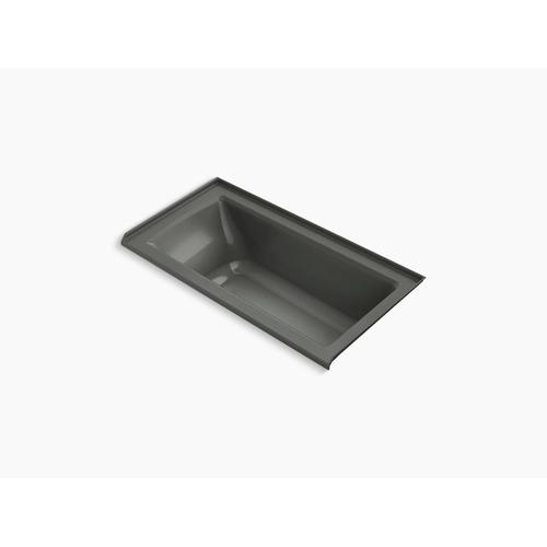"""Thunder Grey 60"""" X 30"""" Alcove Bath With Bask Heated Surface, Integral Flange, and Right-hand Drain"""