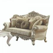 ACME Bently Loveseat w/5 Pillows - 50661 - Fabric & Champagne Product Image
