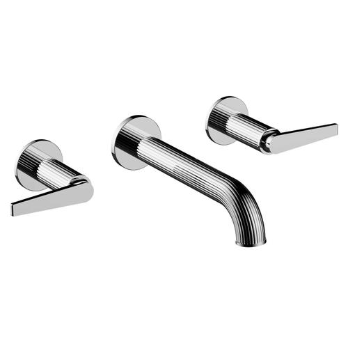 Wall Mount Widespread Lavatory Set in Polished Nickel