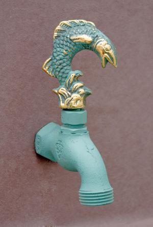 Verdi French Country Hose Bibb Faucets Brass / Hummingbird In Flight Product Image
