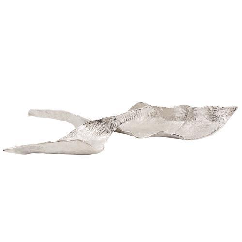 Howard Elliott - Elongated Aluminum Abstract Leaf Tray - Large