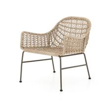 Vintage White Finish Bandera Outdoor Woven Club Chair