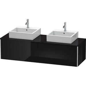 Vanity Unit For Console Wall-mounted, Black High Gloss (lacquer)