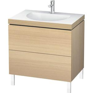Furniture Washbasin C-bonded With Vanity Floorstanding, Mediterranean Oak (real Wood Veneer)