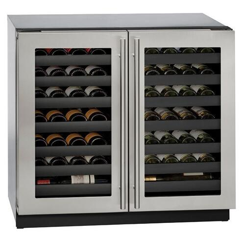 "36"" Dual-zone Wine Refrigerator With Stainless Frame Finish (115 V/60 Hz Volts /60 Hz Hz)"