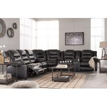 Vacherie Black 3 Piece Reclining Sectional