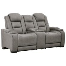 View Product - Power Console Loveseat with Adjustable Headrest, Lumbar, Reading Lights and Wireless Cell Phone Charging