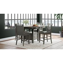 Manchester Hi/low Square Dining Table Base - Grey