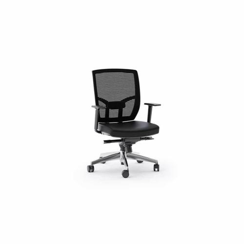 Tc 223dhl Office Chair Leather Seat in Black