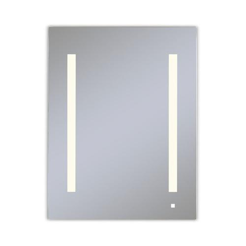 """Aio 23-1/4"""" X 30"""" X 4"""" Single Door Lighted Cabinet With Lum LED Lighting In Soft White (2700k), Dimmable, Interior Lighting, Electrical Outlet, Usb Charging Ports, Magnetic Storage Strip and Left Hinge"""