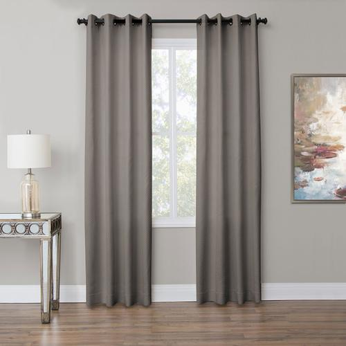 Amini - Aria 50x84 Grommet Top Panel Weighted Corners Fog