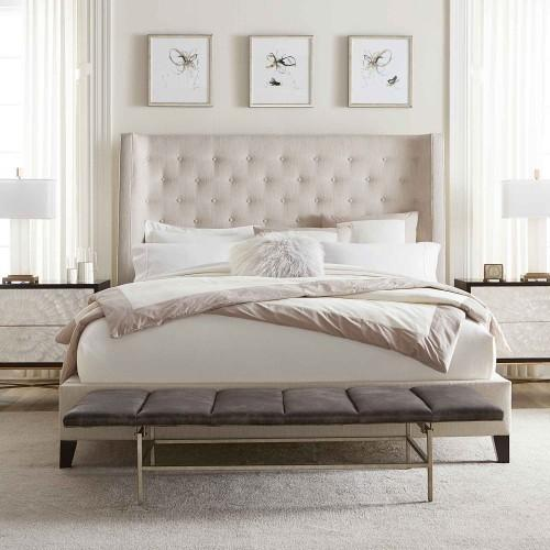 """King-Sized Maxime Wing Bed (68-1/2"""" H) in Espresso"""