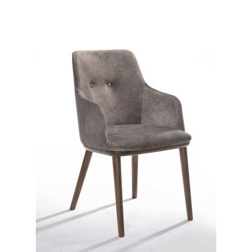 VIG Furniture - Modrest Theresa Modern Grey & Walnut Dining Chair (Set of 2)