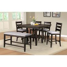 Ellie Counter Height Pub Table with 4 Chairs