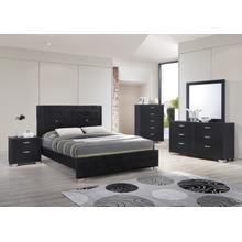 Brahma Black Queen 4PC Bedroom Set