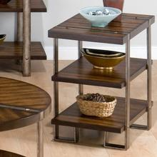 Chairside Table W/ 2 Shelves