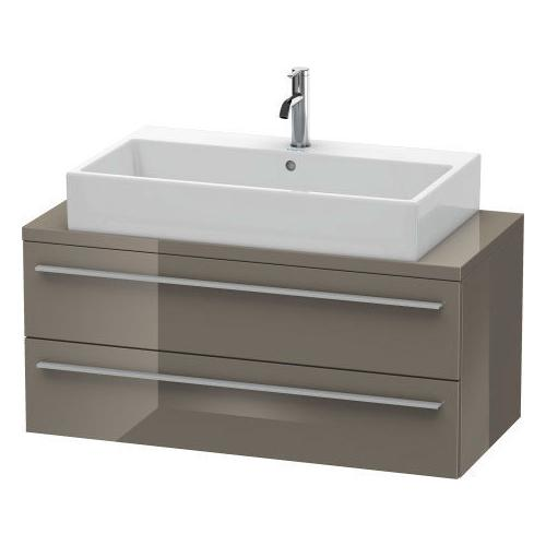 Product Image - Vanity Unit For Console Compact, Flannel Gray High Gloss (lacquer)