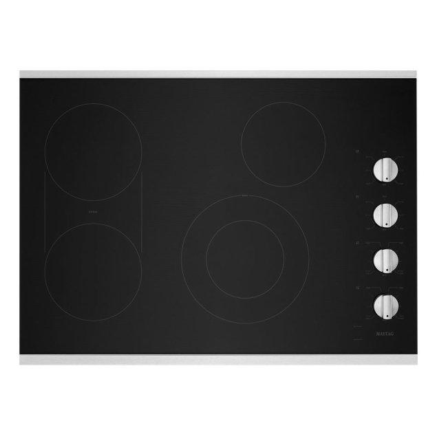 Maytag 30-Inch Electric Cooktop with Reversible Grill and Griddle