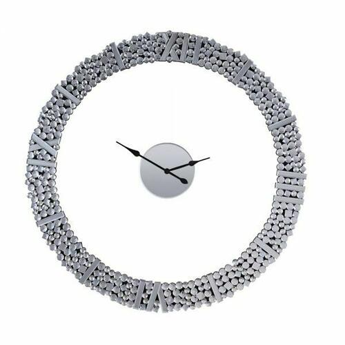 ACME Kachina Wall Clock - 97611 - Mirrored & Faux Gems