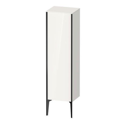 Semi-tall Cabinet Floorstanding, White High Gloss (decor)