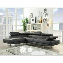 ACME Connor Sectional Sofa - 52650 - Black PU
