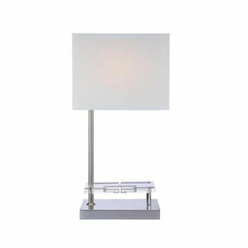 ACME Britt Table Lamp (USB & Power Dock) - 40120 - Sandy Nickel