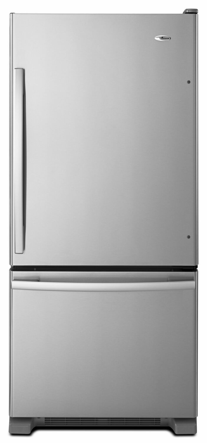 Amana29-Inch Wide Bottom-Freezer Refrigerator With Easyfreezer Pull-Out Drawer -- 18 Cu. Ft. Capacity - Stainless Steel
