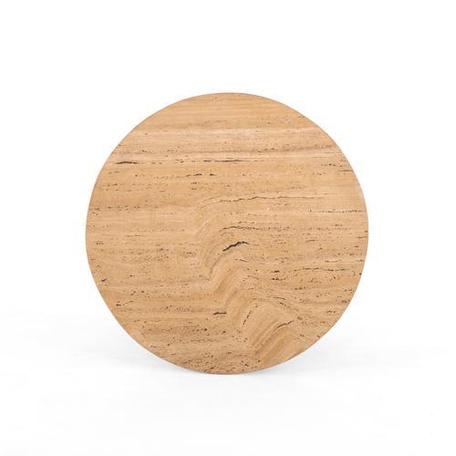 Lark Round Coffee Table-travertine
