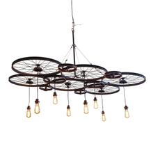 Peloton Black 6 Wheel Hanging Lamp