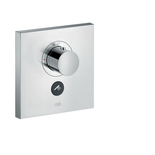 Stainless Steel Optic Thermostat HighFlow for concealed installation square for 1 function and additional outlet