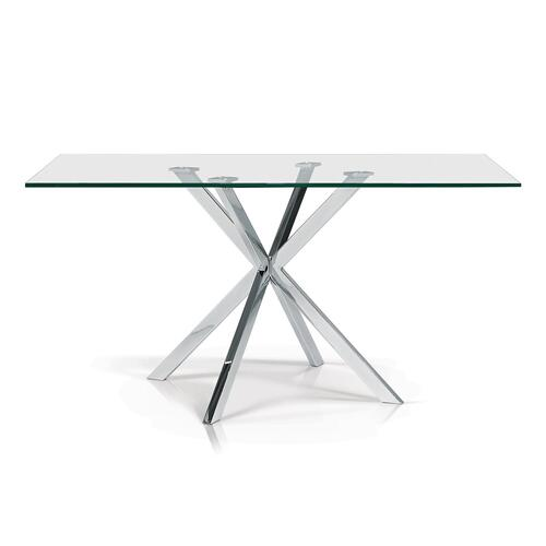 Darron Rectangular Glass Top Dining Table
