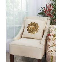 """Home for the Holiday L1441 Gold 16"""" X 16"""" Throw Pillow"""