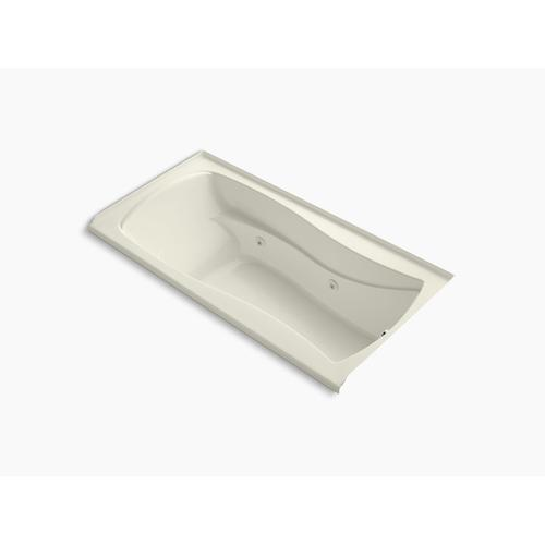 """Biscuit 72"""" X 36"""" Alcove Whirlpool With Integral Flange and Right-hand Drain"""