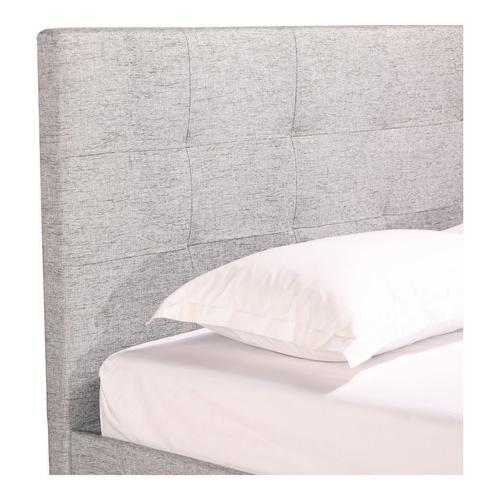 Moe's Home Collection - Eliza Queen Bed Light Grey Fabric