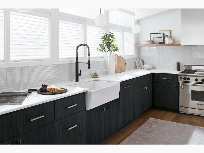 Kohler K242680 Studio41 White Undermount Single Bowl Farmhouse Kitchen Sink