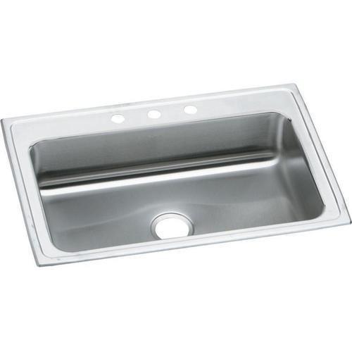 """Elkay Celebrity Stainless Steel 33"""" x 22"""" x 7-1/4"""", Single Bowl Drop-in Sink"""