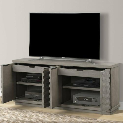 PURE MODERN 76 in. Angled Door TV Console