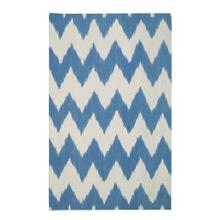 Wild Chev Grecian Blue - Rectangle - 3' x 5'