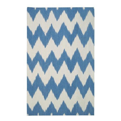 Wild Chev Grecian Blue - Rectangle - 3' x 5'