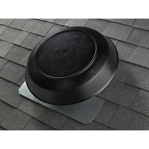 Broan - Broan® 1600 CFM Powered Attic and Garage Ventilation Fan, Roof Mounted, Black Dome