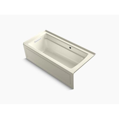 """Biscuit 66"""" X 32"""" Alcove Bath With Bask Heated Surface, Integral Apron, Integral Flange, and Left-hand Drain"""
