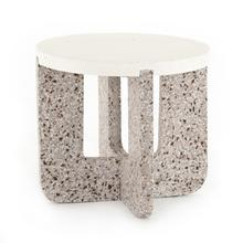Lolita Outdoor End Table-amber & Grey