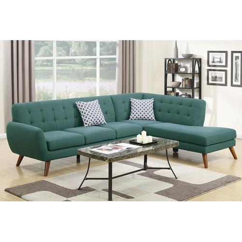 Poundex - 2-pcs Sectional Sofa