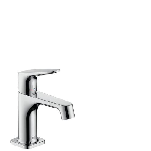 Stainless Steel Optic Single lever basin mixer 70 for hand washbasins with pop-up waste set