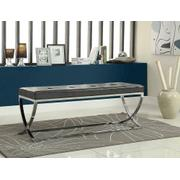 Contemporary Chrome Bench Product Image
