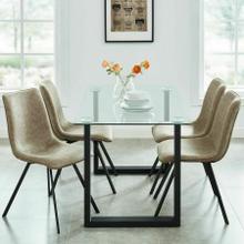 See Details - Franco/Buren 5pc Dining Set, Black/Brown