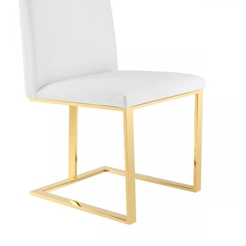 VIG Furniture - Modrest Frankie - Contemporary White & Gold Dining Chair